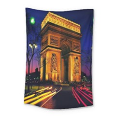 Paris Cityscapes Lights Multicolor France Small Tapestry