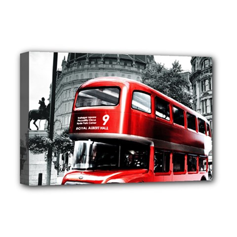 London Bus Deluxe Canvas 18  x 12