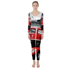 London Bus Long Sleeve Catsuit