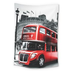 London Bus Large Tapestry