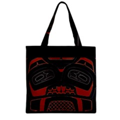 Traditional Northwest Coast Native Art Zipper Grocery Tote Bag