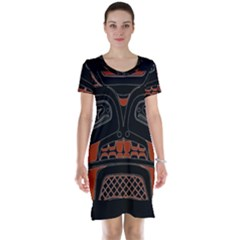 Traditional Northwest Coast Native Art Short Sleeve Nightdress
