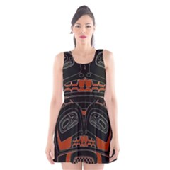 Traditional Northwest Coast Native Art Scoop Neck Skater Dress