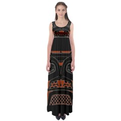 Traditional Northwest Coast Native Art Empire Waist Maxi Dress