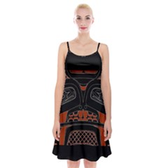 Traditional Northwest Coast Native Art Spaghetti Strap Velvet Dress