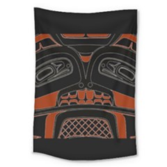 Traditional Northwest Coast Native Art Large Tapestry