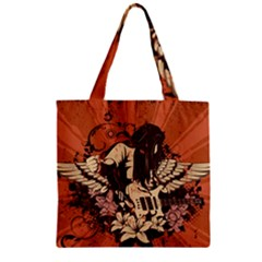 Rock Music Moves Me Zipper Grocery Tote Bag