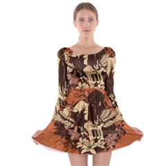Rock Music Moves Me Long Sleeve Skater Dress
