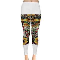 Tattoo Art Print Traditional Artwork Lighthouse Wave Leggings
