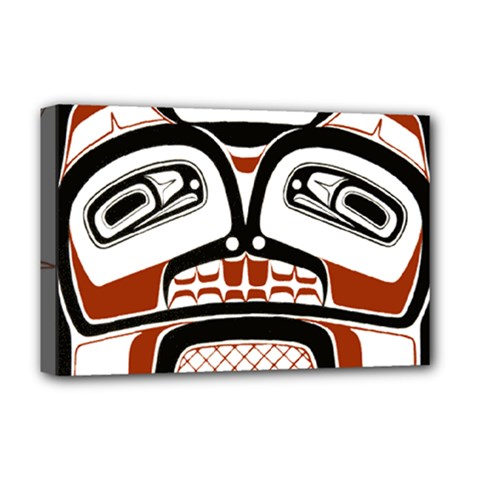 Traditional Northwest Coast Native Art Deluxe Canvas 18  X 12