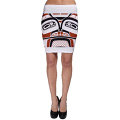 Traditional Northwest Coast Native Art Bodycon Skirt