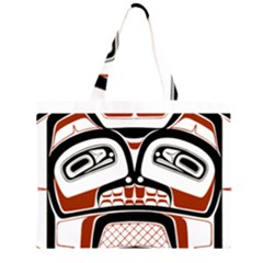 Traditional Northwest Coast Native Art Large Tote Bag