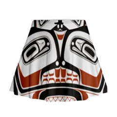Traditional Northwest Coast Native Art Mini Flare Skirt