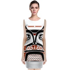 Traditional Northwest Coast Native Art Sleeveless Velvet Midi Dress