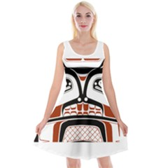 Traditional Northwest Coast Native Art Reversible Velvet Sleeveless Dress