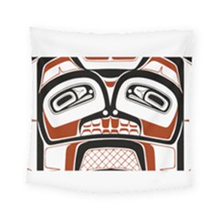 Traditional Northwest Coast Native Art Square Tapestry (Small)