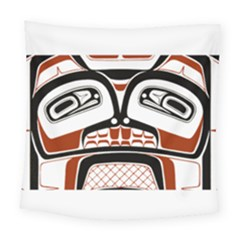 Traditional Northwest Coast Native Art Square Tapestry (Large)
