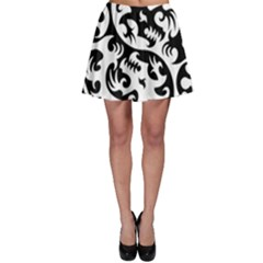 Ying Yang Tattoo Skater Skirt
