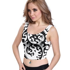 Ying Yang Tattoo Crop Top