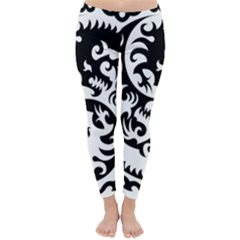 Ying Yang Tattoo Classic Winter Leggings