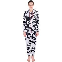 Ying Yang Tattoo Hooded Jumpsuit (Ladies)