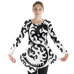 Ying Yang Tattoo Long Sleeve Tunic