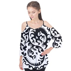 Ying Yang Tattoo Flutter Tees