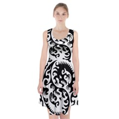 Ying Yang Tattoo Racerback Midi Dress