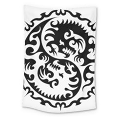 Ying Yang Tattoo Large Tapestry