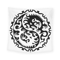 Ying Yang Tattoo Square Tapestry (Small)