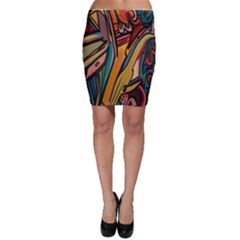 Vivid Colours Bodycon Skirt