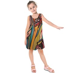 Vivid Colours Kids  Sleeveless Dress