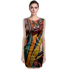 Vivid Colours Sleeveless Velvet Midi Dress