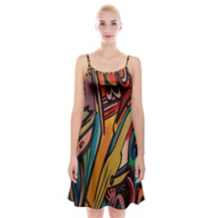 Vivid Colours Spaghetti Strap Velvet Dress