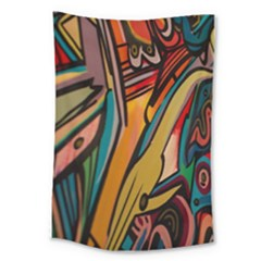 Vivid Colours Large Tapestry