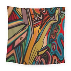Vivid Colours Square Tapestry (large)