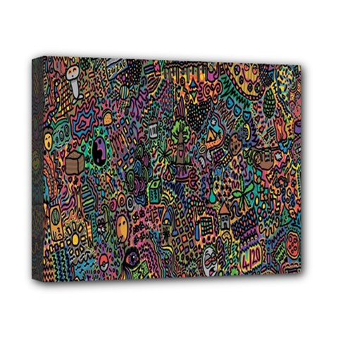 Trees Internet Multicolor Psychedelic Reddit Detailed Colors Canvas 10  x 8