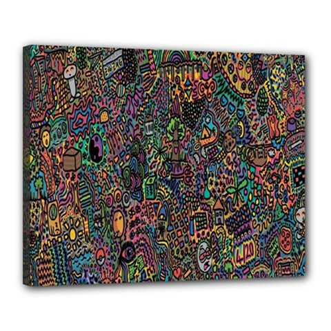 Trees Internet Multicolor Psychedelic Reddit Detailed Colors Canvas 20  x 16