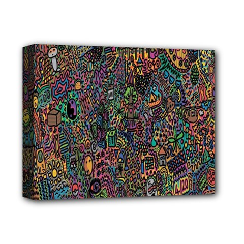 Trees Internet Multicolor Psychedelic Reddit Detailed Colors Deluxe Canvas 14  x 11