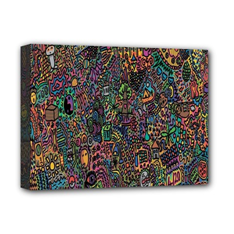 Trees Internet Multicolor Psychedelic Reddit Detailed Colors Deluxe Canvas 16  X 12