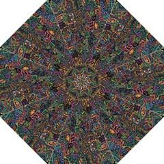 Trees Internet Multicolor Psychedelic Reddit Detailed Colors Hook Handle Umbrellas (medium)