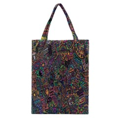Trees Internet Multicolor Psychedelic Reddit Detailed Colors Classic Tote Bag