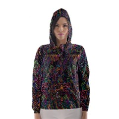 Trees Internet Multicolor Psychedelic Reddit Detailed Colors Hooded Wind Breaker (women)