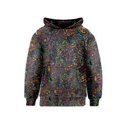 Trees Internet Multicolor Psychedelic Reddit Detailed Colors Kids  Pullover Hoodie