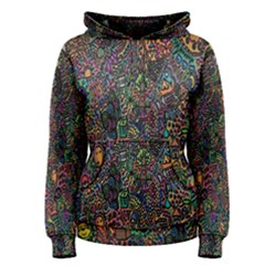 Trees Internet Multicolor Psychedelic Reddit Detailed Colors Women s Pullover Hoodie
