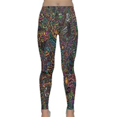 Trees Internet Multicolor Psychedelic Reddit Detailed Colors Classic Yoga Leggings