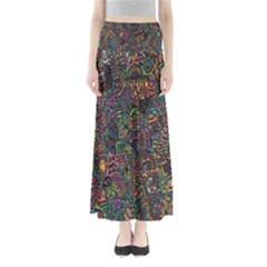 Trees Internet Multicolor Psychedelic Reddit Detailed Colors Maxi Skirts