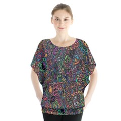 Trees Internet Multicolor Psychedelic Reddit Detailed Colors Blouse