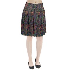 Trees Internet Multicolor Psychedelic Reddit Detailed Colors Pleated Skirt