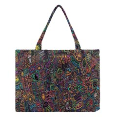 Trees Internet Multicolor Psychedelic Reddit Detailed Colors Medium Tote Bag